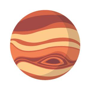 Planet Jupiter Glyph