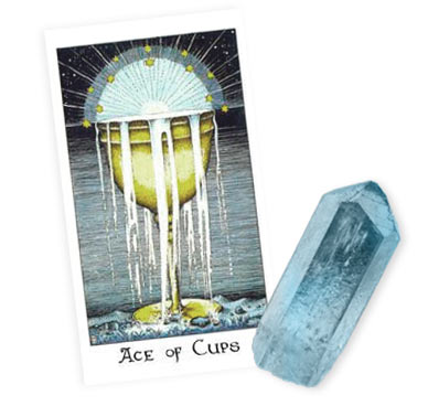 New Moon Tarot and Crystals