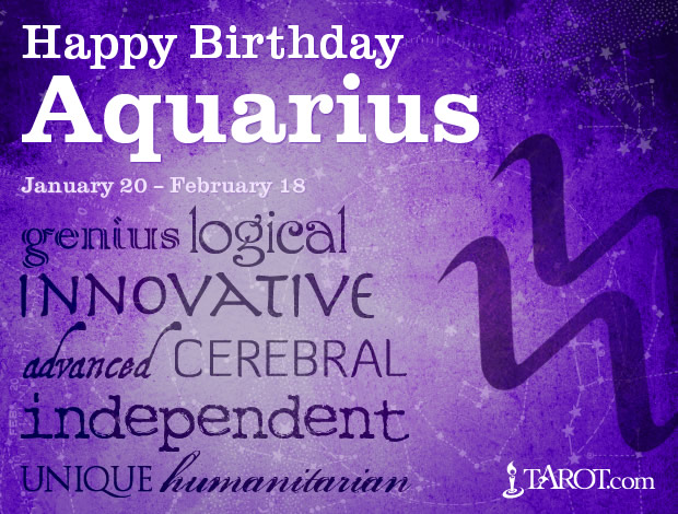 Happy Birthday, Aquarius!