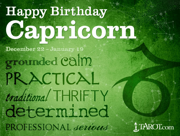Happy Birthday, Capricorn