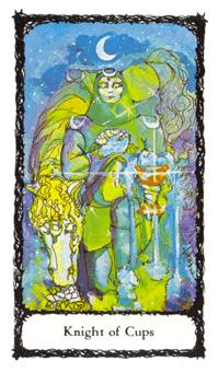 the Knight of Cups from the Sacred Rose Tarot