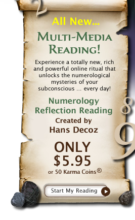 Brand New! Exclusive Numerology Reflection Reading