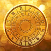 golden birth chart zodiac wheel