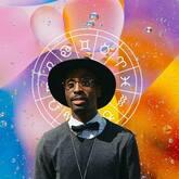 Astrology natal chart behind man