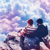 couple in the clouds