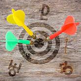 bullseye with darts