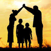 happy family silhouette