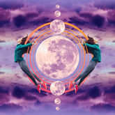 full moon with capricorn symbol