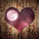 heart with full moon and zodiac symbols