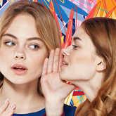 women telling secrets
