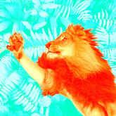 Leo Lion reaching for something