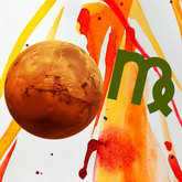 planet mars with zodiac sign virgo symbol