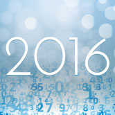2016 with numbers surrounding