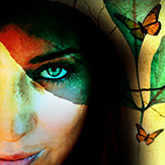 woman with butterfly reincarnation