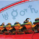 roller coaster with zodiac symbols