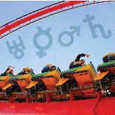 roller coaster with zodiac symbols