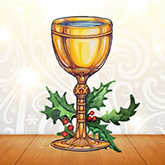 goblet with holly