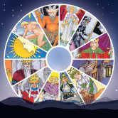 tarot cards with astrology symbols