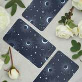 moon phases on tarot card back