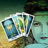 tarot card, woman, princess of cups