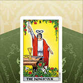 tarot card magician, celtic cross