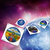 full moon with mandala tarot cards