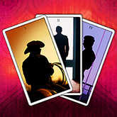 animated tarot cards with men