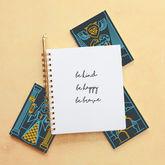 tarot card with journal