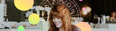 woman and zodiac wheel