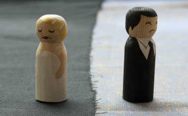 divorced man and woman