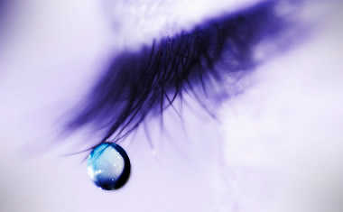 teardrop on eyelash