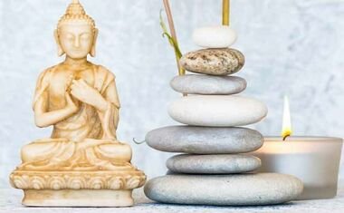 tea pot and bamboo