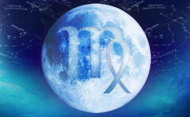 full moon with virgo zodiac symbol