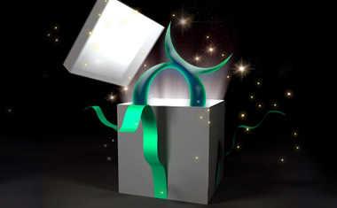 gift box with taurus symbol