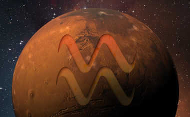 mars with aquarius zodiac sign symbol