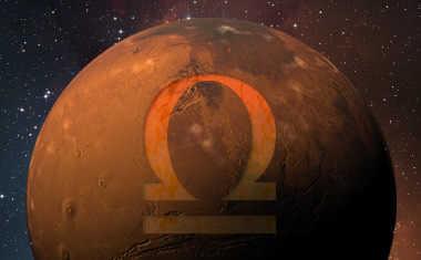 mars with libra symbol