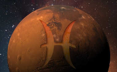 mars with pisces zodiac symbol
