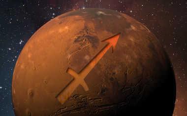 mars with sagittarius zodiac symbol