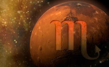 planet mars with scorpio zodiac symbol