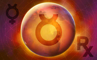 mercury with retrograde and taurus symbols