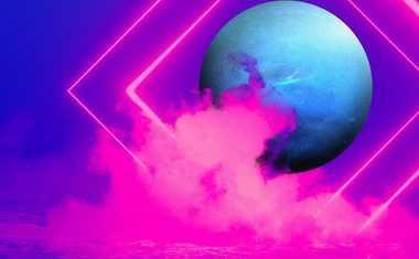 neon neptune with fog