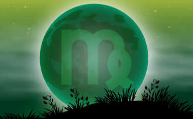 new moon with virgo zodiac symbol