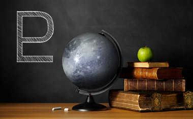 pluto with globe