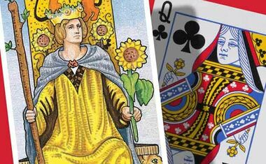 Tarot Cards and Playing Cards