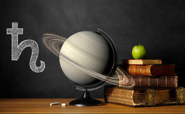 saturn with globe