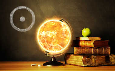 sun symbol and globe