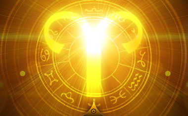 glowing aries symbol