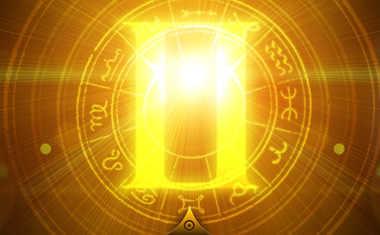 sun with gemini zodiac symbol