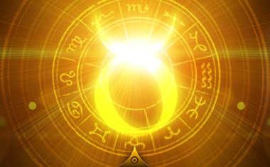 shining taurus zodiac symbol