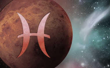planet venus with pisces zodiac sign symbol
